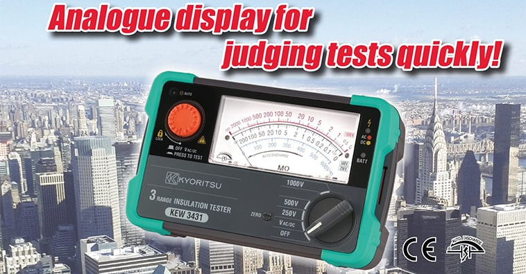 Kyoritsu KEW 3431 - Analogue Insulation Tester