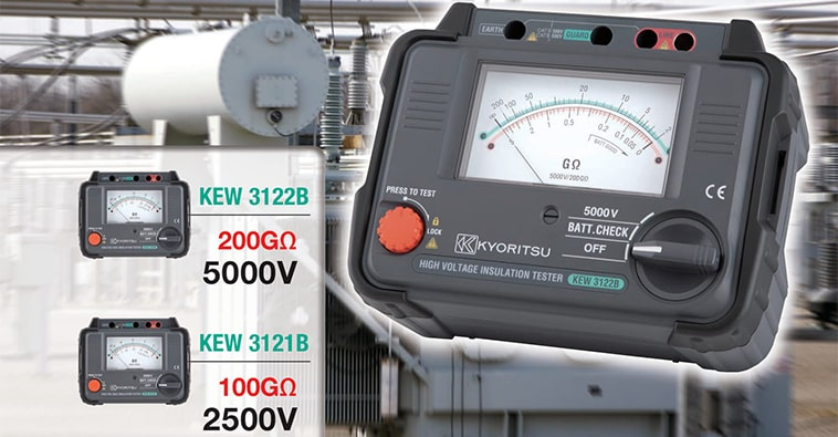 Kyoritsu KEW 3121B/3122B - Analogue High Voltage Insulation Testers