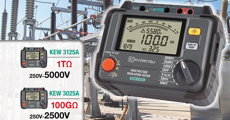 Kyoritsu KEW 3125A/3025A - Digital High Voltage Insulation Testers